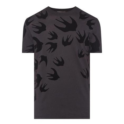 Swallow Print Cotton T-Shirt, ${color}