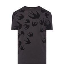 Swallow Print Cotton T-Shirt
