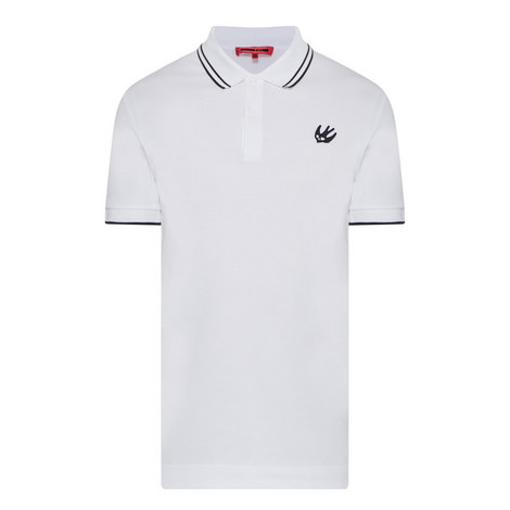 Swallow Appliqué Tipped Polo Shirt, ${color}