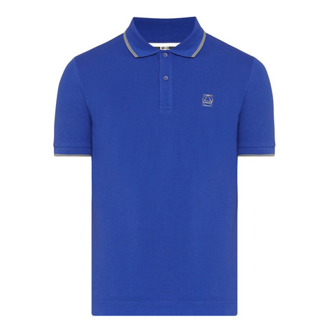 Tipped Piqué Polo Shirt, ${color}