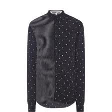 Stripe & Spot Print Shirt