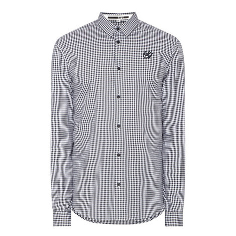 Gingham Swallow Logo Shirt, ${color}