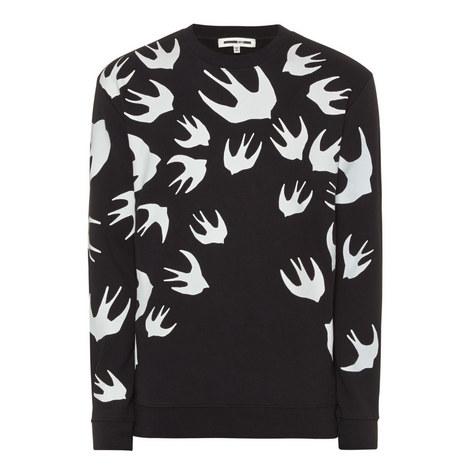Swallow Print Sweatshirt, ${color}