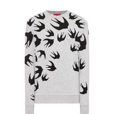 Swallow Print Sweatshirt