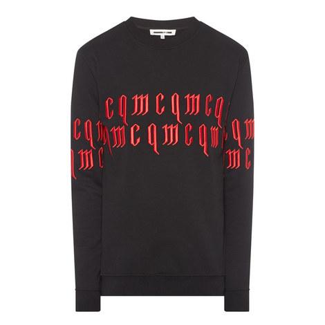 Gothic Font Sweatshirt, ${color}