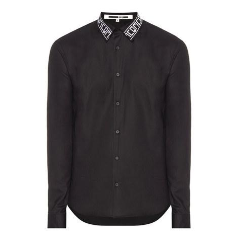 Contrast Collar Poplin Shirt, ${color}
