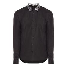 Contrast Collar Poplin Shirt