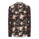 Floral Print Crêpe Shirt, ${color}