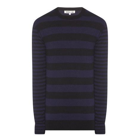 Contrast Stripe Sweater, ${color}