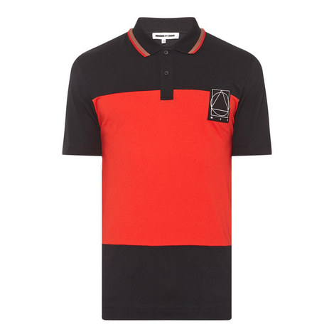 Colour-Block Polo Shirt, ${color}