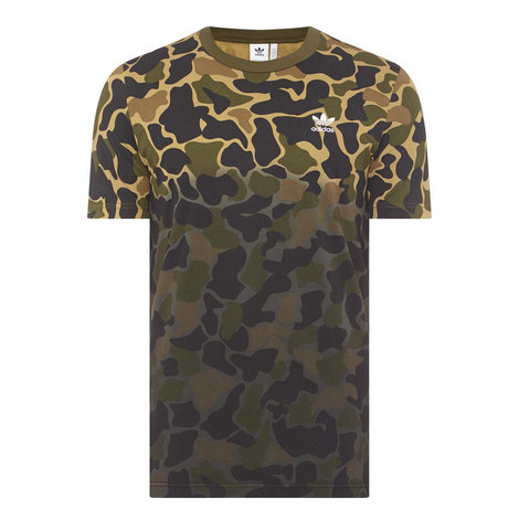 Camouflage Crew Neck T-Shirt , ${color}