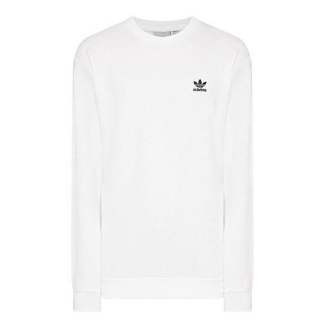 Crew Neck Small Trefoil Sweatshirt, ${color}