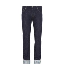 Turn Up Slim Jeans