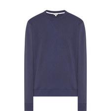 Back Print Crew Neck Sweatshirt