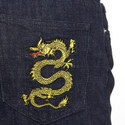 Dragon Embroidered Jeans, ${color}