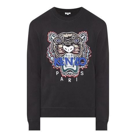 Tiger Embroidered Sweatshirt, ${color}