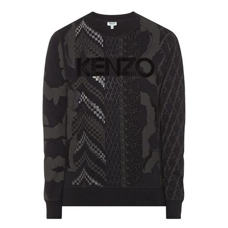 Embellished Print Sweatshirt, ${color}