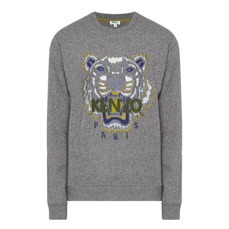 Embroidered Tiger Sweatshirt, ${color}