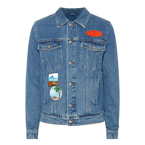Badges Denim Jacket, ${color}