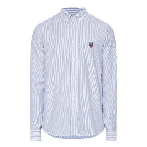 Stripe Pattern Oxford Shirt, ${color}