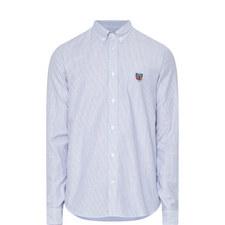 Stripe Pattern Oxford Shirt