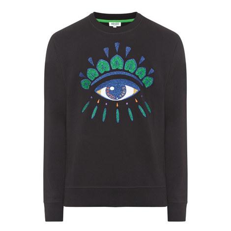 Embroidered Eye Sweatshirt, ${color}