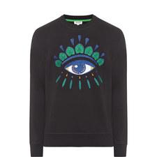 Embroidered Eye Sweatshirt