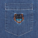 Embroidered Tiger Denim Shirt, ${color}