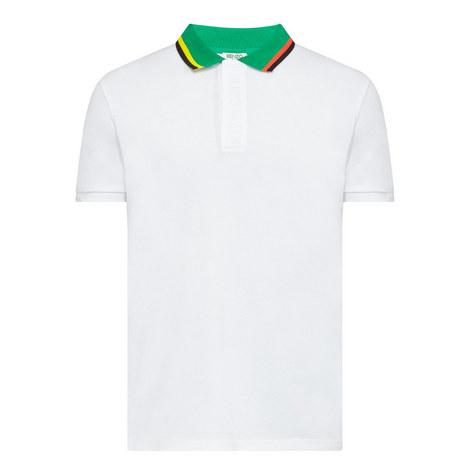 Striped Collar Polo Shirt, ${color}
