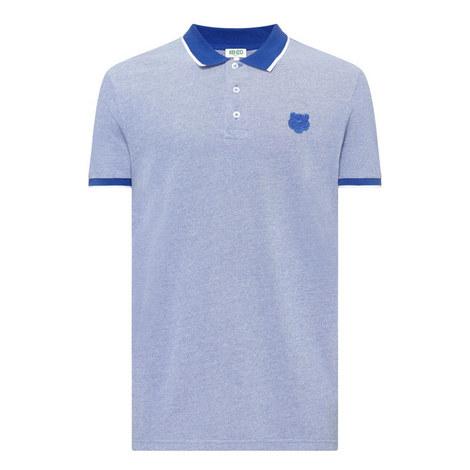 Collar Tip Tiger Polo Shirt , ${color}