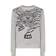 Crawling Tiger Crew Neck Sweatshirt