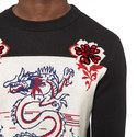 Floral Dragon Crew Neck Sweatshirt, ${color}