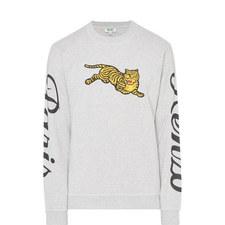 Jumping Tiger Crew Neck Sweatshirt