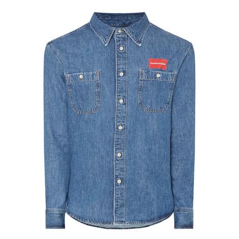 Denim Patch Pocket Shirt, ${color}