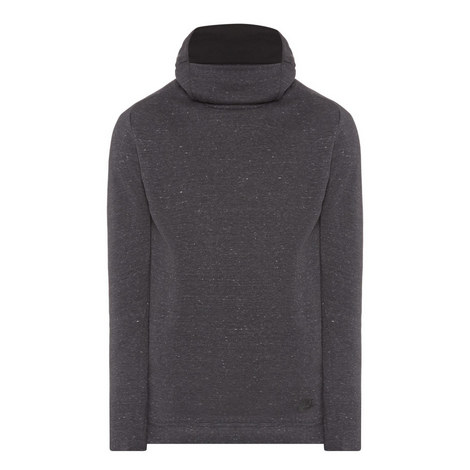 Funnel Neck Fleece Sweatshirt, ${color}