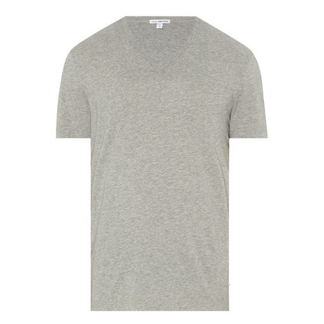 V-Neck Cotton T-Shirt, ${color}