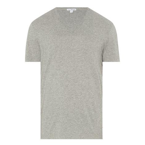 V-Neck Cotton T-Shirt, ${color}