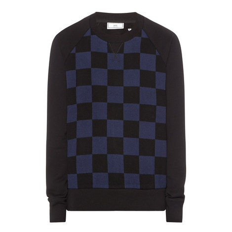 Checked Front Sweatshirt, ${color}