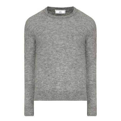 Crew Neck Lama Mix Sweater, ${color}