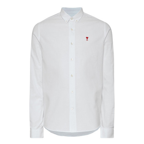 Embroidered Heart Oxford Shirt, ${color}