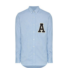 Letter Patch Oxford Shirt