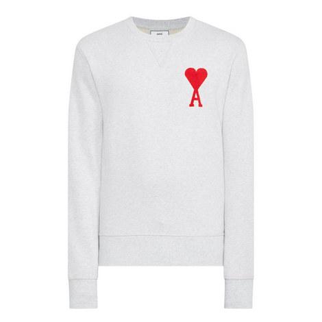 Heart Motif Sweatshirt, ${color}