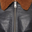 Leather Aviator Bomber Jacket, ${color}