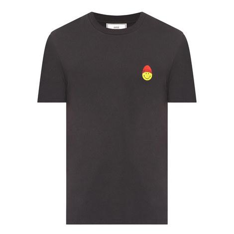 Smiley Face Crew Neck T-Shirt, ${color}