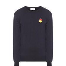 Smiley Face Crew Neck Sweater