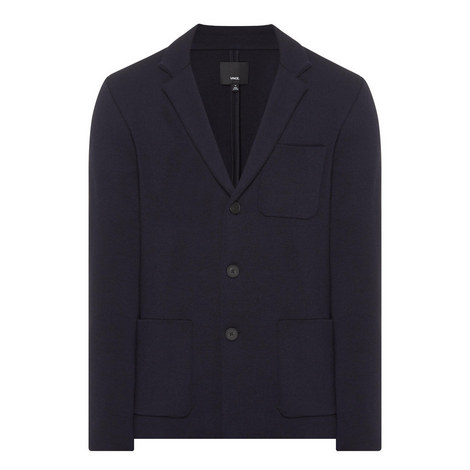 Single Breasted Knitted Blazer, ${color}