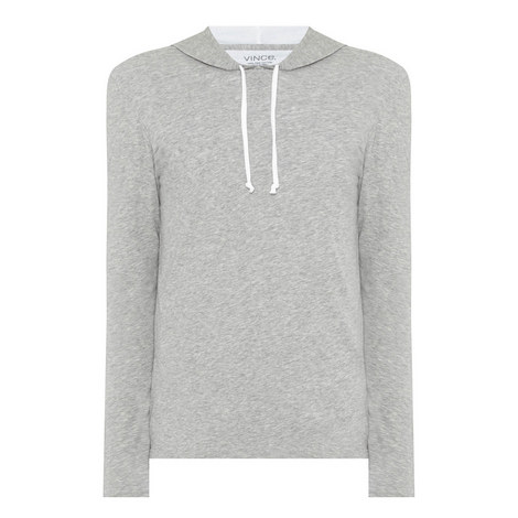 Pima Cotton Layered Hoodie, ${color}