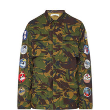 Camouflage Patch Sleeve Field Jacket