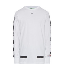 Diagonal Stripe Long Sleeve T-Shirt