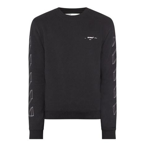 Diagonal 3D Arrows Sweatshirt, ${color}
